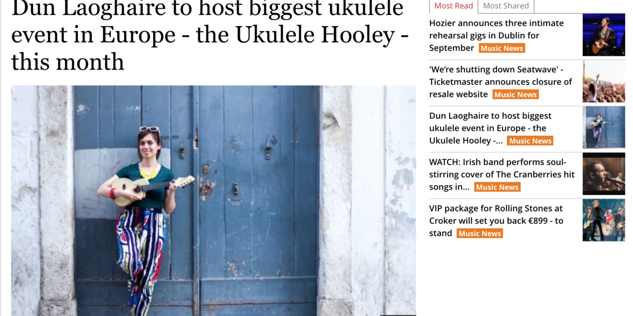 Coverage of this year's Ukulele Hooley in today's Irish Independent
